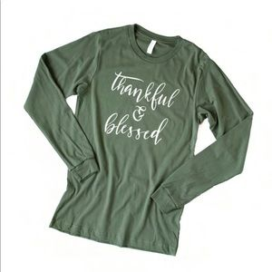 Tops - Thankful and Blessed long sleeve shirt